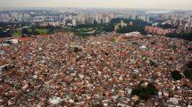 Vista aérea de la favela de Paraisópolis.