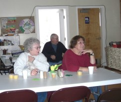 Class at the Senior Lunch site.