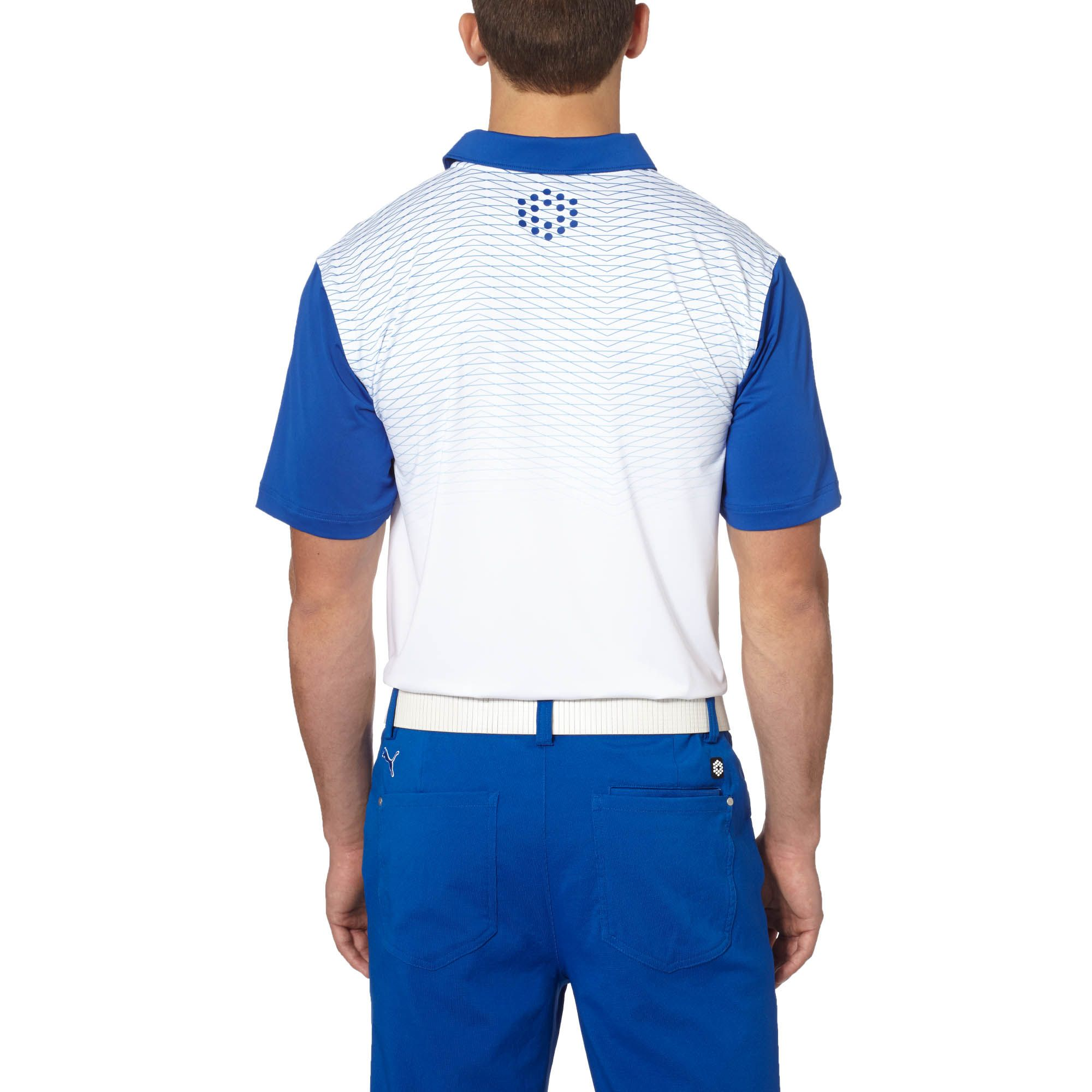 PUMA Colorblock Fade Golf Polo Shirt | eBay