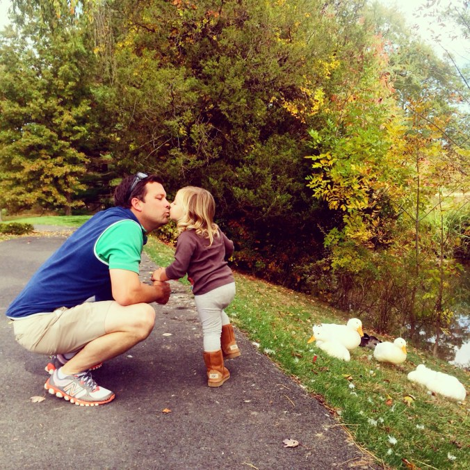 emmy and daddy kisses