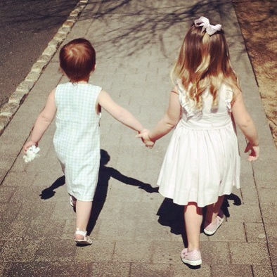 harper and emma holding hands