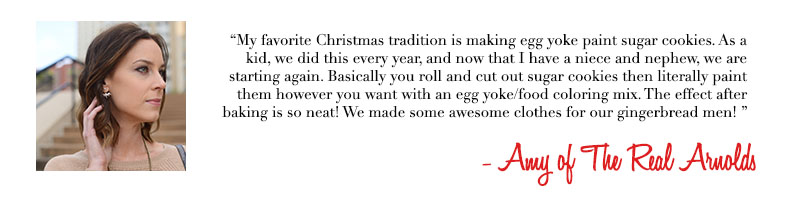 Amy of The Real Arnolds - Holiday Traditions