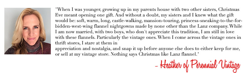 Heather of Perennial Vintage - Holiday Traditions