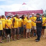 "Thanks to all of the volunteers who came out to support our efforts and mahalo to the DOCARE officer (""Ken"")"