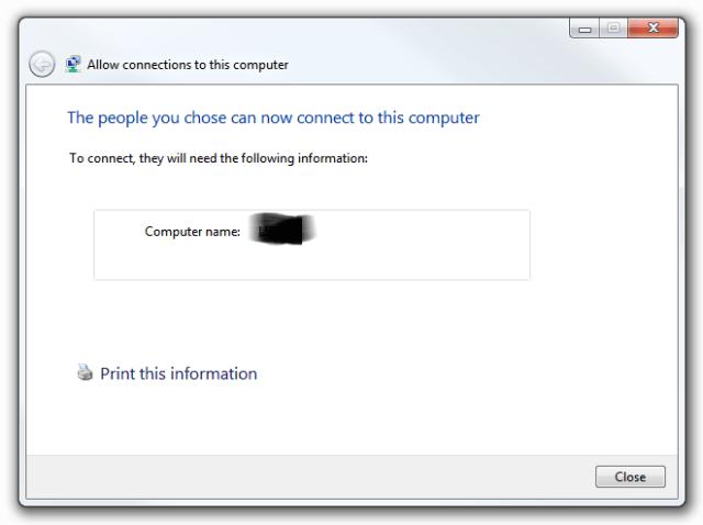 Windows 7 VPN Server - Wizard complete