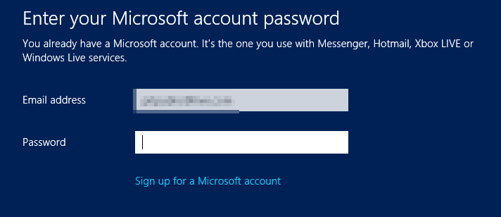 Microsoft account  - Windows 8 Consumer Preview