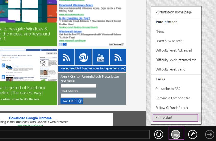 Pin to Start - Windows 8