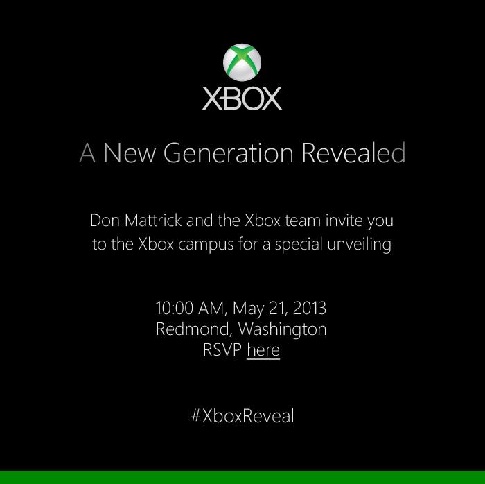 Xbox Reveal invite