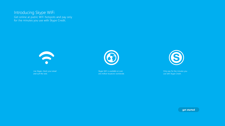 Skype WiFi app for Windows 8
