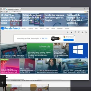 Chrome version 32 in Windows 8.1