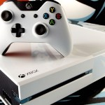 White Xbox One system with white controller