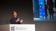 Windows 10 Start menu during presentation