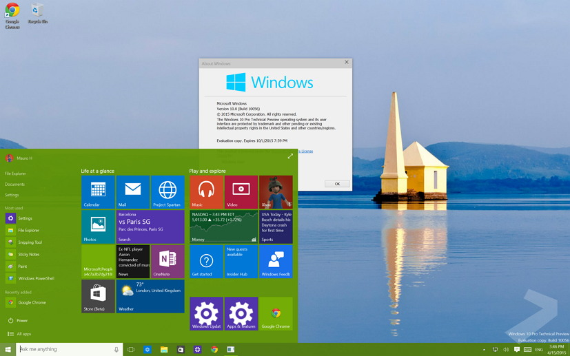 What's new in Windows 10 build 10056, list of changes ...