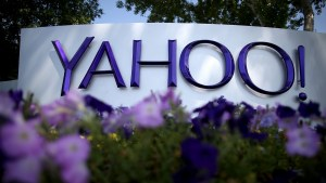 Yahoo company sign