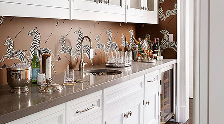 How to Use Wallpaper as a Kitchen Backsplash - PureWow