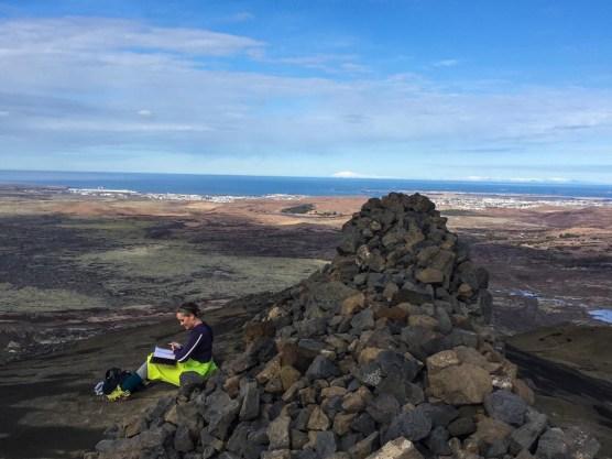 Island, Sigrun auf dem Helgafell