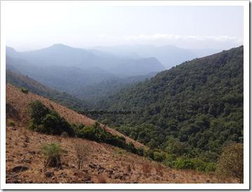 kodachadri beautiful view from hilltop