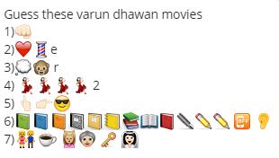 Guess these varun dhawan movies