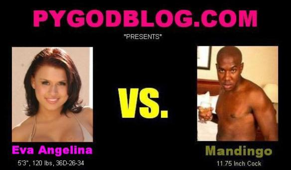 Eva Angelina vs Mandingo 11.75 inch cock