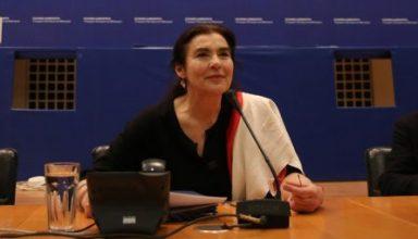 Η υπουργός Πολιτισμού και Αθλητισμού Λυδία Κονιόρδου (Κ) με την Γενική Γραμματέα του υπουργείου Πολιτισμού και Αθλητισμού Μαρία Ανδρεαδάκη- Βλαζάκη (Α) μιλούν στη συνέντευξη Τύπου στους διαπιστευμένους δημοσιογράφους, στο Αμφιθέατρο του υπουργείου Πολιτισμού, Τετάρτη 1 Μαρτίου 2017. Κατά τη διάρκεια της συνέντευξης θα ανακοινωθούν ο προγραμματισμός, οι δράσεις και οι δραστηριότητες του ΥΠΠΟΑ που έχει επεξεργαστεί η πολιτική ηγεσία του Υπουργείου Πολιτισμού και Αθλητισμού από την ανάληψη των καθηκόντων της. ΑΠΕ-ΜΠΕ/ΑΠΕ-ΜΠΕ/ΑΛΕΞΑΝΔΡΟΣ ΒΛΑΧΟΣ