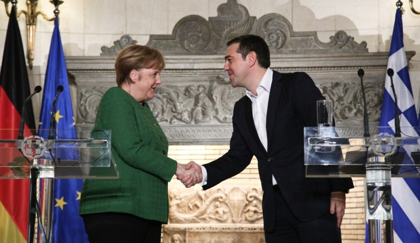 Joint statements following a meeting between the Greek Prime Minister Alexis Tsipras and the Chancellor of the Federal Republic of Germany, Angela Merkel, in Athens, on January 10, 2019. / Κοινές δηλώσεις μετά τη συνάντηση του έλληνα πρωθυπουργού Αλέξη Τσίπρα με την Καγκελάριο της Ομοσπονδιακής Δημοκρατίας της Γερμανίας, κ. Angela Merkel, στο Μέγαρο Μαξίμου, 10 Ιανουαρίου 2019.