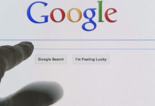Google search engine opened on computer monitor at the home page ready for a search string to be typed into the blank search box. (Photo by: Education Images/UIG via Getty Images)
