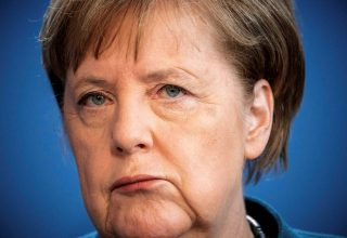 German Chancellor Angela Merkel gives a media statement on the spread of the new coronavirus disease (COVID-19) at the Chancellery in Berlin, Germany, March 22, 2020.   Michel Kappeler/Pool via REUTERS