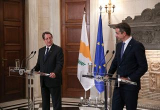 Joint press conference of Greek Prime Minister, Kyriakos Mitsotakis, and the Cypriot President, Nikos Anastasiadis, at Maximos Mansion in Athens, Greece on July 14, 2020 / Κοινές δηλώσεις του Έλληνα πρωθυπουργού Κυριάκου Μητσοτάκη με τον Πρόεδρο της Κυπριακής Δημοκρατίας, Νίκο Αναστασιάδη στο Μέγαρο Μαξίμου, στην Αθήνα, στις 14 Ιουλίου, 2020