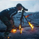 Daredevil Photographer Catches on Fire