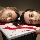 Creepy Wedding Cake With Two Bloody Severed Heads