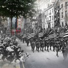 World War One Photos Mixed With Today's Modern Images