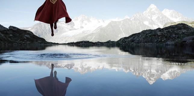 Superman Floating