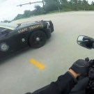 High-Speed Police Chase Caught on Helmet Cam