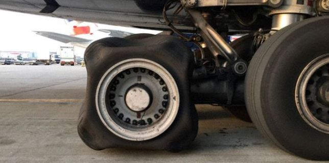 Airplane Flat Tire
