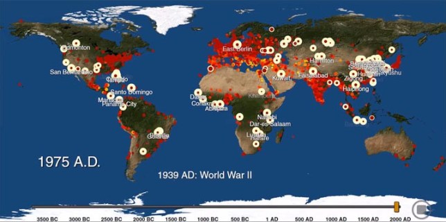 World Map From 3700 BC To 2000 AD