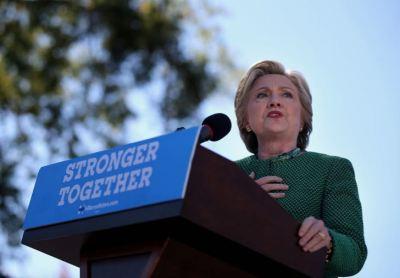 U.S. Democratic presidential nominee Hillary Clinton speaks at campaign rally in Raleigh, North Carolina, U.S., October 23, 2016. REUTERS/Carlos Barria