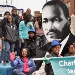 The scene at Saturday's Martin Luther King, Jr. Parade in Uptown Charlotte. The celebration of King's legacy continues this week in the Qcity. Visit WhatsHappeningCharlotte.com for more events.