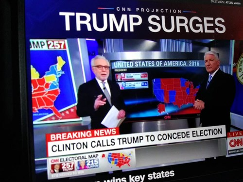 Clinton concedes. Moment of Truth