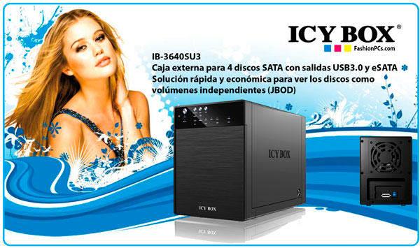 Icy Box IB-3640SU3 caja externa JBOD