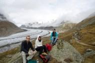 Gruppenfoto vor dem Aletschgletscher