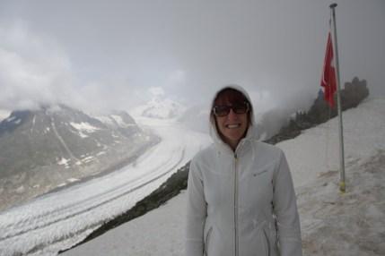 Egishorn, im Hintergrund Aletschgletscher