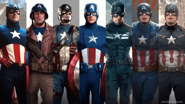 Why was Captain America s costume so bad in Avengers    Quora The one used in Avengers is the fourth one  which  if anything  would be  some sort of weird homage to the one he wore in this propaganda tours   first suit