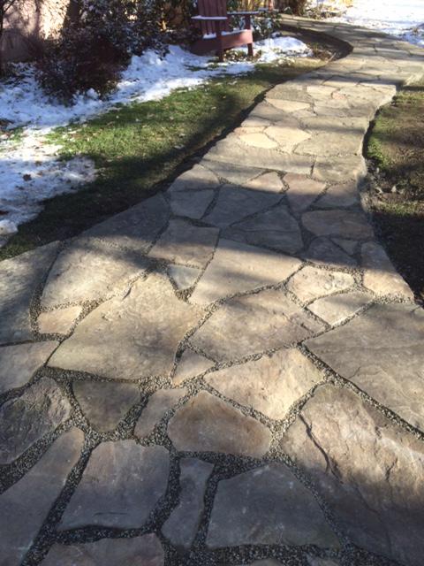 custom stone sidewalk