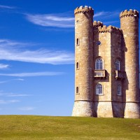 Broadway Tower no Cotswolds inglês