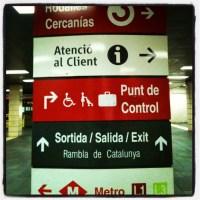 O Metrô de Barcelona!