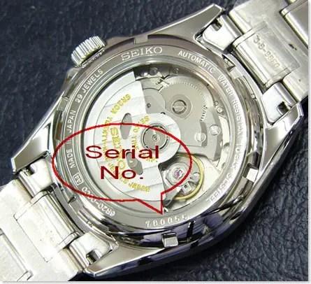 Non-Seiko 5 glass caseback