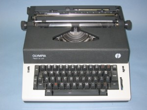 image of an Olympia brand typewriter