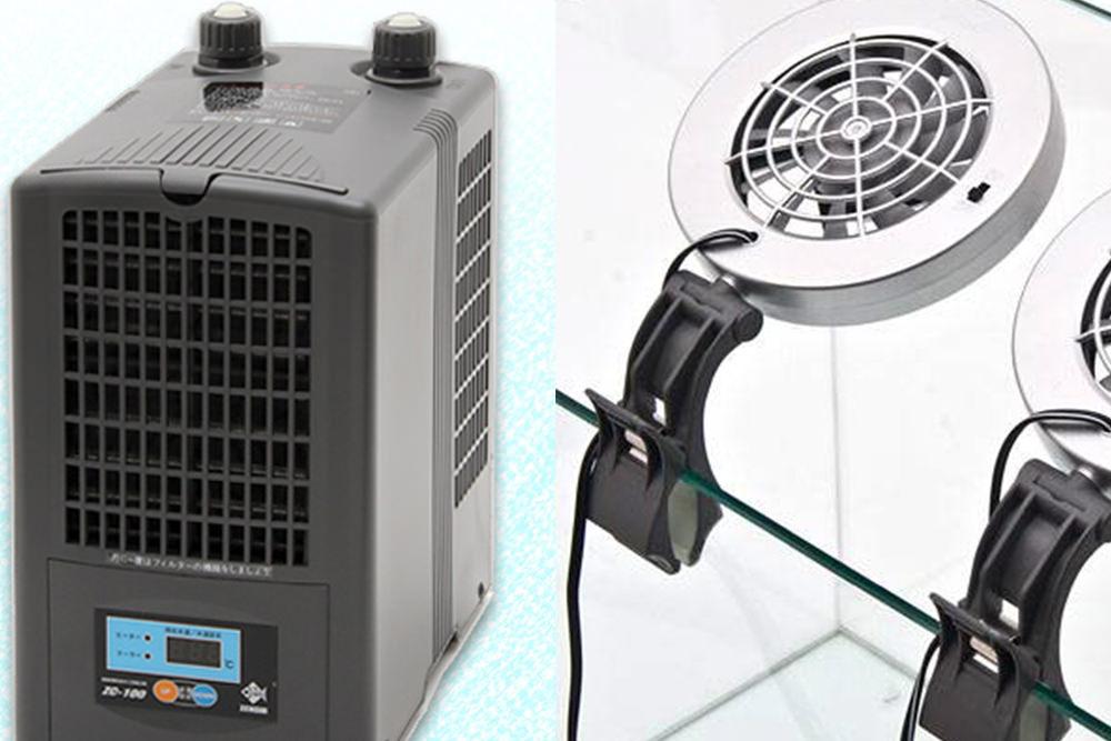 水槽用クーラー・冷却ファンなど夏の水温を下げる方法の一覧とおすすめな製品