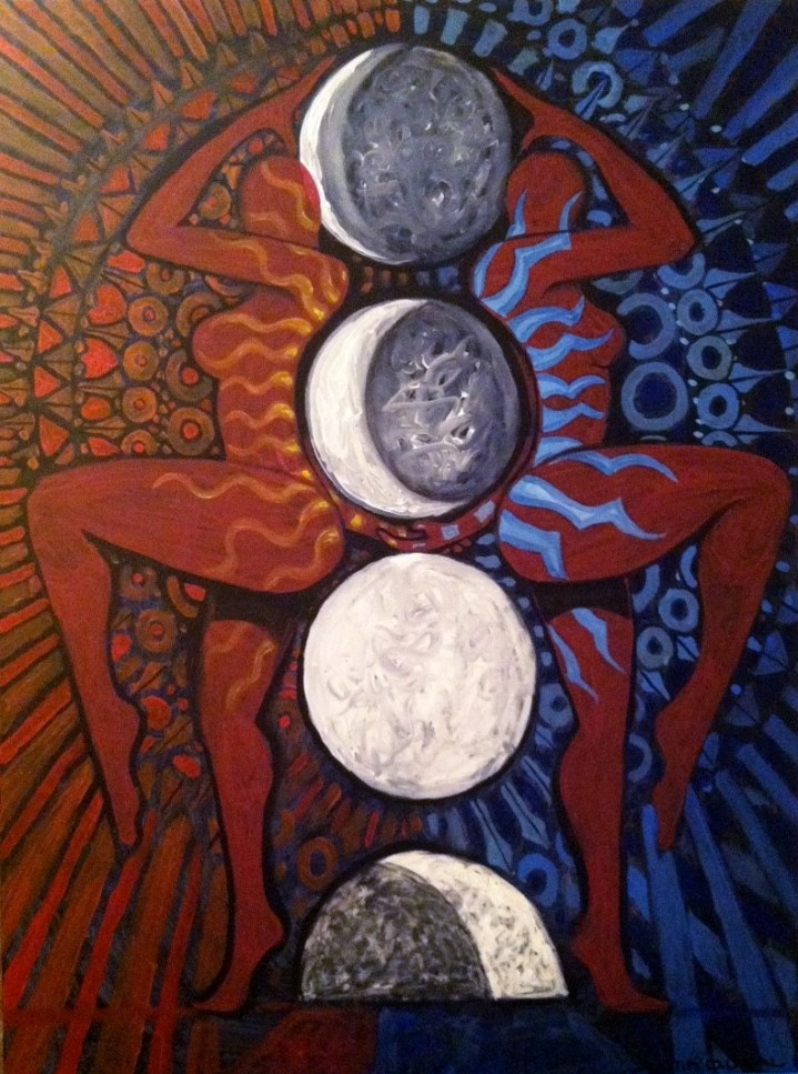 Live Painting.  Psychedelic Moon.  2'X4'  $400