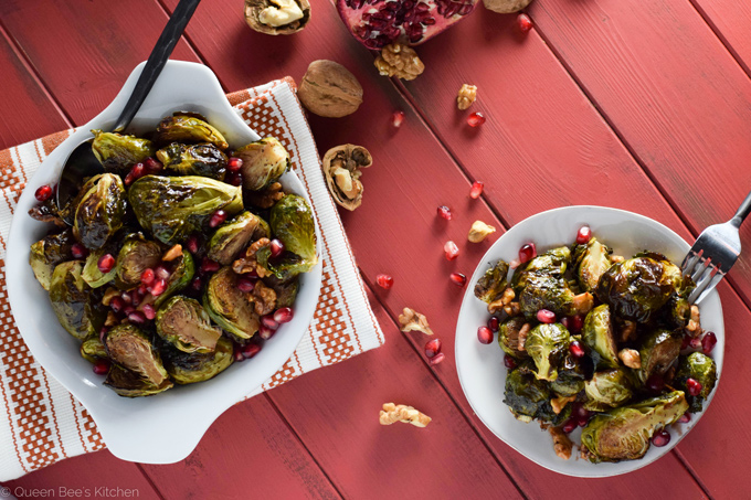 Pomegranate Molasses Brussels Sprouts